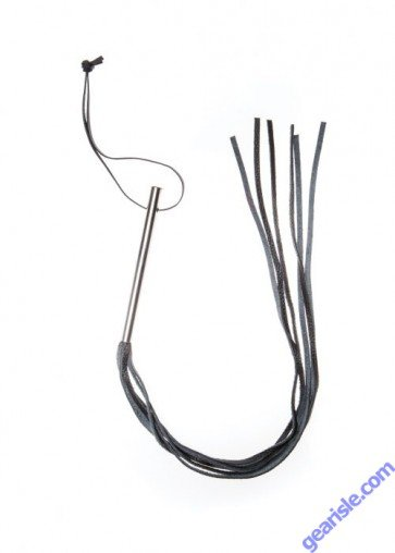 Leather Whip Metal Handle Triple X 12007