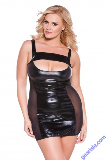 Wet Look Dress Kitten Plus 17-6602XK