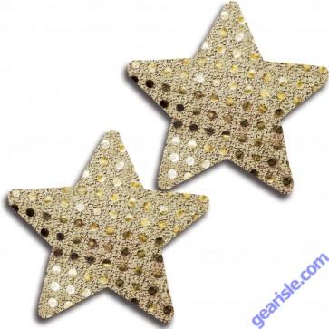 Glitter 31528 Gold Glitter Cross Pasties Lingerie
