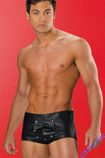 Leather Lycra Shorts 33-101