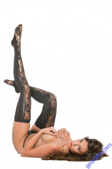 Allure Lace Wet Look Tights Kitten-Boxed 7-2602K