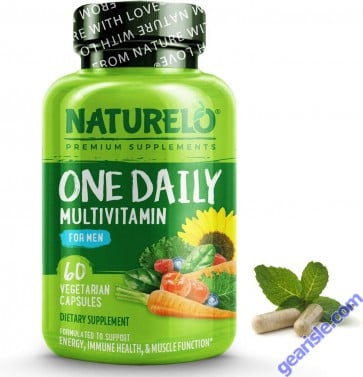 NATURELO One Daily Multivitamin for Men - with Whole Food Vitamins & Organic Extracts - Natural Supplement to Boost Energy, General Health - Non-GMO - 60 Capsules | 2 Month Supply