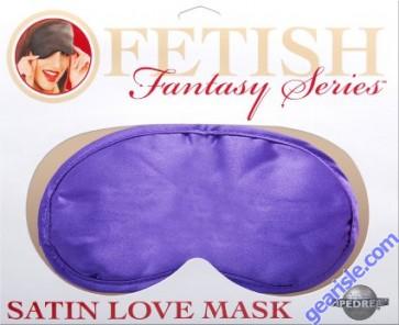 Satin Love Mask in Purple