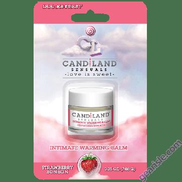 Doc Johnson Candiland Sensuals Intimate Warming Balm Strawberry Bon Bon