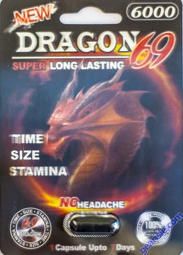 New Dragon 69 6000 Male Sexual Performance Enhancer 1 Pill