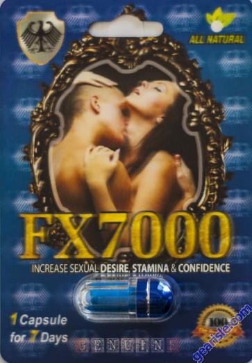 FX7000 Increase Sexual Desire Stamina & Confidence Pill 1 Capsule 7 Days