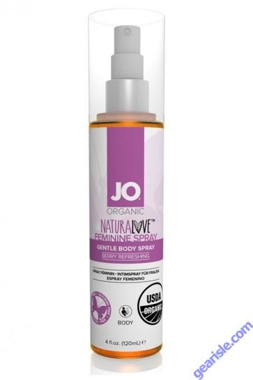 System Jo Organic Natural Love Feminine Spray Berry Refreshing 4 Oz