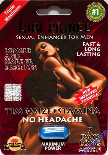 Libi Prince 2500pwr 4 Days Sexual Enhancer for Men 1 Pill Improved Formula