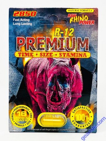 Libimax R-12 Premium 2500 Raw Rhino Power Male Sexual Enhancement Pill