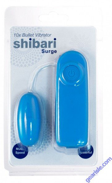 Blue Shibari Surge 10X 10 Speed High Intensity Vibrating Bullet