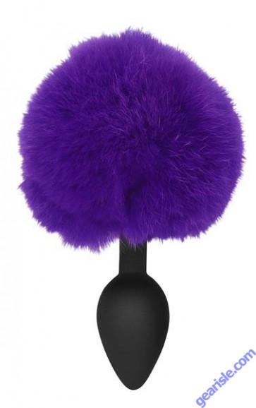 Silicone Bunny Butt Plug Purple