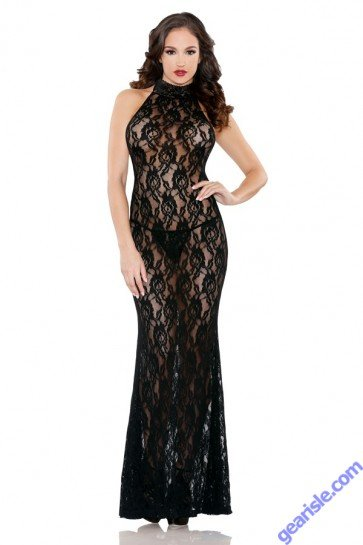 Coco High Neck Gown Tease B478