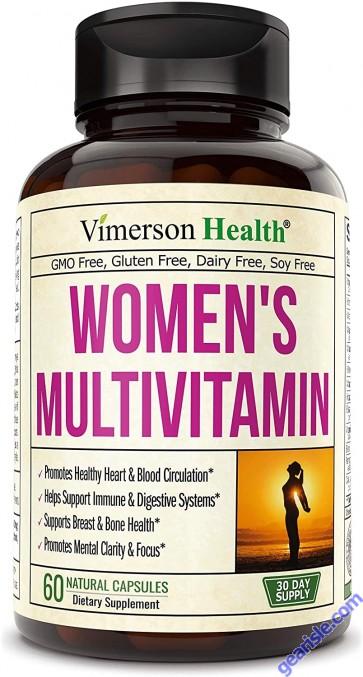 Womens Multivitamin with Zinc Biotin Calcium Vegetarian 60 Pills