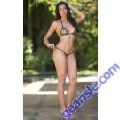 Vixen Triangle Back Sequin Mesh Sheer Bikini Xposed Skinz