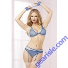 Mesh Bra Set Blue 10582P Seven' til Midnight
