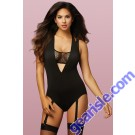 Black Microfiber Fishnet Teddy 10756P Seven' til Midnight