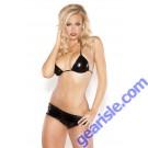 Wet Look Hot Shorts Bra Top Kitten-Boxed 12-5092K