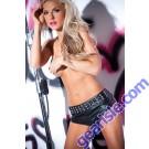 Faux Leather Flirty Studded Shorts 15-1402