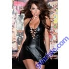 Leather Lace Up Dress 17-110