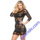 Lace Wet Look Dress Kitten-Boxed 17-3082K