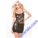 Lace Wet Look Dress Kitten-Boxed 17-4502K
