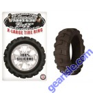 Cock Ring Silicone X Large Tire Black Mack Tuff