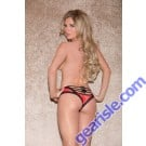Glitter 30006X Lace Panty With Horizontal Strappy Back Lingerie