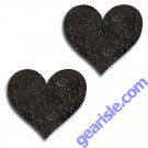 Glitter 31517 Self Adhesive Flat Heart Pasties