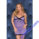 Glitter 32035X Stretch Lace Chemise Lingerie