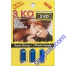 3 KO Blue Male Sexual Libido Enhancer 1000 mg Natural Herbal Extract x 3pills (one cartdige) by Prime Health Inc.