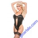 Faux Leather Halter Top Naughty 4-1005