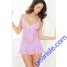 Sexy Spaghetti Strap Lace Embellished Babydoll For Women 5125