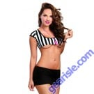 Dreamgirl 9771 Foul Play Referee Costume Lingerie One Size Fits Most 90-160 LBS