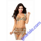 Dreamgirl 9702 Women's Sexy Exotic Leopard Bra & Flirty Garter Skirt