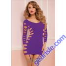 Seamless Long Sleeve Dress 9862P Seven' til Midnight