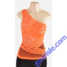 Women Seamless Single Shoulder Tank Top  AML9113 WK Apparel Lingerie