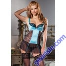 Sexy Romantic Aqua Cami Suspender Charming Womens New Adult Intimate Lingerie MD