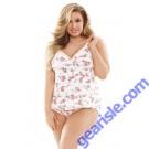 Rosalie Modal Floral Print Shoulder Tie Top Shorts Set Curve P261