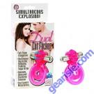 Dual Clit Flicker Pink Ring Cal Exotics