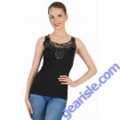Lace Trim Seamless Tank Top GZ-3 WK Apparel Lingerie