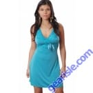 Microfiber Chemise With Stretch Lace Ribbon Bow Vx Intimate Lingerie 4054