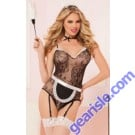 French Maid Seamless Bodysuit Set 9851P Seven' til Midnight