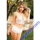Grace Underwire Bra Tie Back Skirt Matching Panty Premiere FL1701