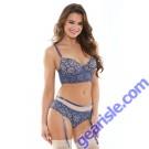 Brielle Longline Bra Gartered Panty Tease B480
