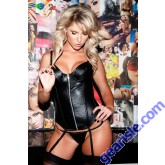 Zipper Leather Corset 11-113