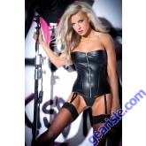 Sexy Siren Corset Faux Leather 11-6402