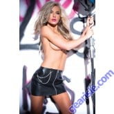 Faux Leather Chains Pleasure Skirt 13-5402