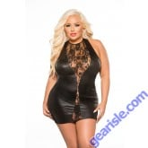 Lace Wet Look Dress Kitten Plus 17-6802XK