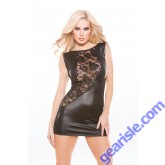 Lace Wet Look Dress Kitten-Boxed 17-8502K