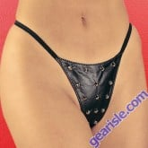 Studded Leather G-String 2-200X